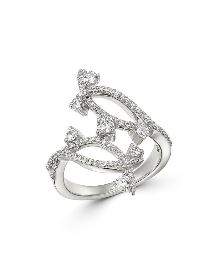 Bloomingdale's - Diamond Bypass Ring in 14K White Gold, 0.80 ct. t.w. - 100% Exclusive