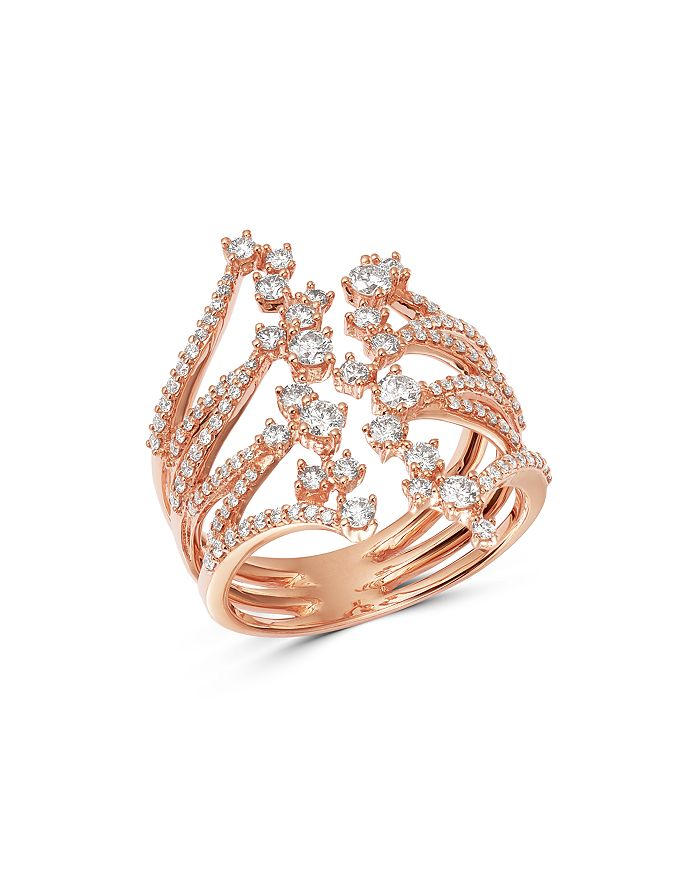 Bloomingdale's - Diamond Scattered Ring in 14K Rose Gold, 1.05 ct. t.w. - 100% Exclusive