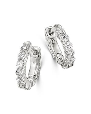 Bloomingdale's Diamond Huggie Hoop Earrings in 14K White Gold, 0.50 ct. t.w. - 100% Exclusive