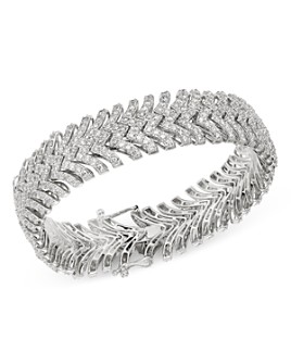 Bloomingdale's - Diamond Statement Bracelet in 14K White Gold, 10 ct. t.w. - 100% Exclusive