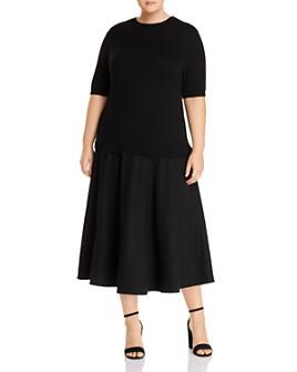 Lafayette 148 New York Plus - Combo Sweater Dress