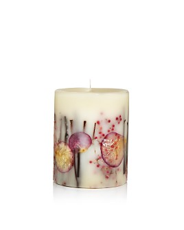 "Rosy Rings - Apricot Rose 5.5"" Tall Mini Round Candle"