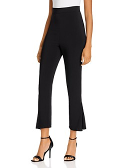 Cushnie - High-Waisted & Cropped Pleated-Hem Pants