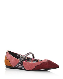 COACH - x Tabitha Simmons Women's Harriette Velvet Mary Jane Flats