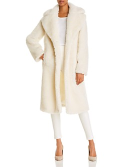 BAGATELLE.NYC - Cozy Sherpa Faux Fur Coat - 100% Exclusive