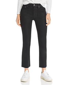 Pistola - Lennon High-Rise Coated Cropped Bootcut Jeans in After Dark