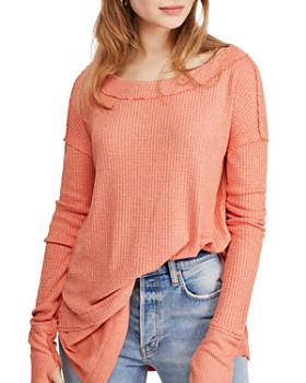 Free People - North Shore Waffle-Knit Tee