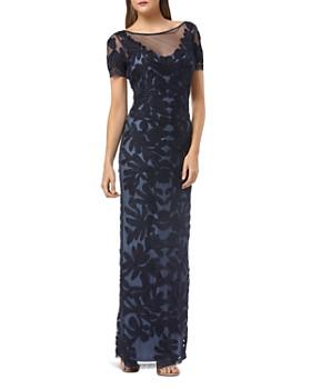JS Collections - Illusion Soutache Gown
