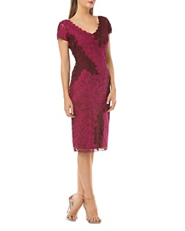JS Collections - Soutache Leaf Sheath Dress