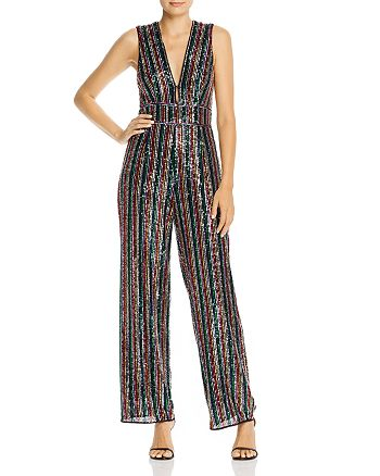 Saylor - Rainbow Sequin Jumpsuit