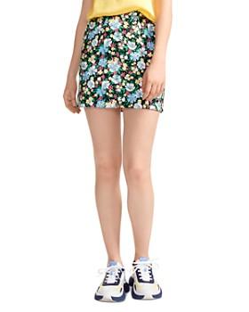 Maje - Jikael Floral-Print Mini Skirt