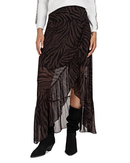 ba&sh - Salvi Zebra Print Maxi Skirt