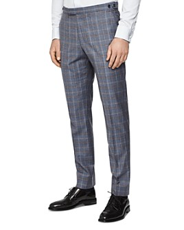 REISS - Glover Checked Flannel Slim Fit Pants