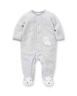 Little Me - Boys' Striped Puppy Footie - Baby