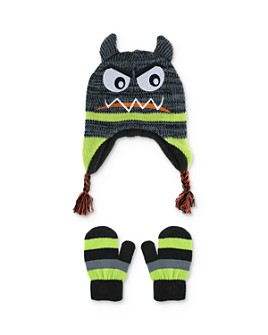 Capelli - Boys' Monster Hat & Mittens Set - Little Kid