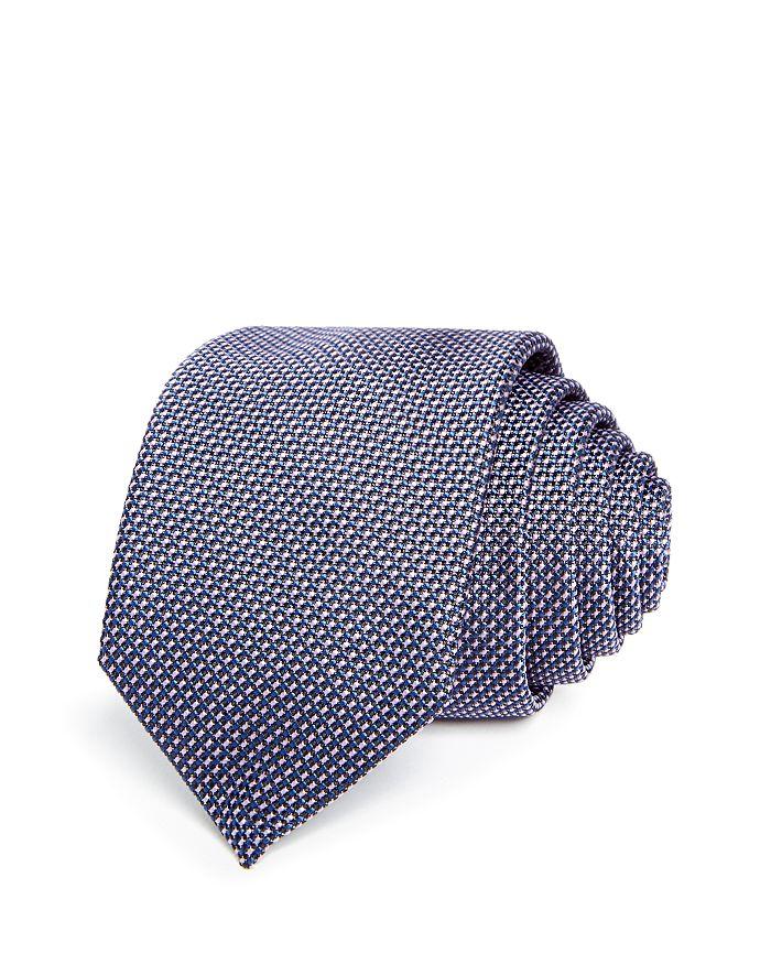 HUGO - Textured Micro Dash Silk Skinny Tie