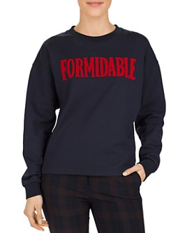 Gerard Darel - Eliot Formidable Graphic Fleece Sweatshirt