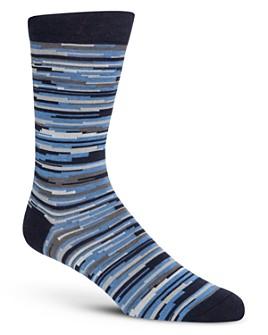 Cole Haan - Random Stripe Crew Socks