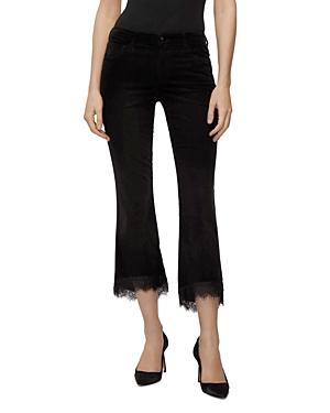 J Brand Selena Mid-Rise Crop Jeans in Black