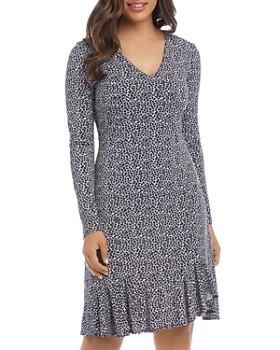 Karen Kane - Sienna Animal-Print Flounce Dress