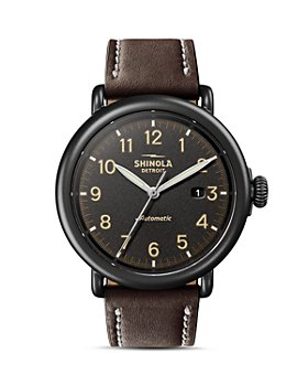 Shinola - The Runwell Brown Leather Strap Automatic Watch, 45mm