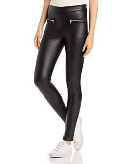 Bagatelle - Faux-Leather Zipper Leggings
