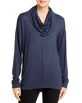 Cupio - Drop Shoulder Cowl Neck Top