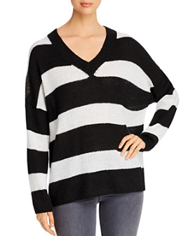 Elan - Striped V-Neck Sweater