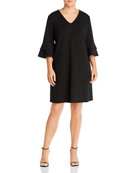 AQUA Curve - Crepe Bell-Sleeve Dress - 100% Exclusive
