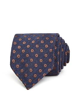 Drake's - Open Circles Woven Silk Classic Tie