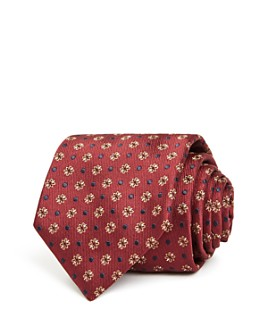 Canali - Floral Dot Silk Classic Tie