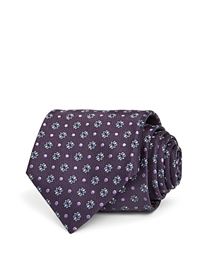 Canali Floral Dot Silk Classic Tie-Men