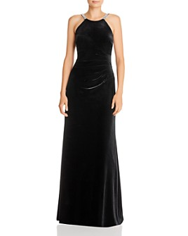 AQUA - Sequin-Strap Velvet Gown - 100% Exclusive
