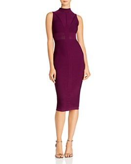 Cushnie - Knit Mock-Neck Midi Dress