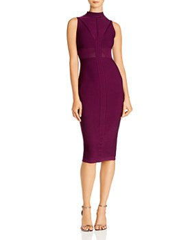 Cushnie - Knit Mock-Neck Midi Dress