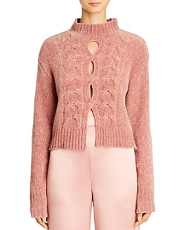 Cushnie - Openwork Horseshoe Cable Knit Sweater