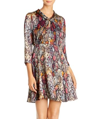 Silk Snake Print Dress by Rebecca Taylor