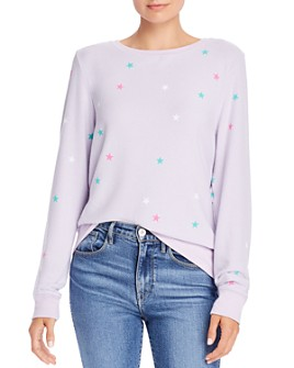 WILDFOX - Baggy Beach Star-Print Sweatshirt - 100% Exclusive