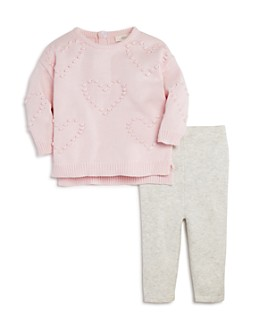 Miniclasix - Girls' Heart Sweater & Knit Pants Set - Baby