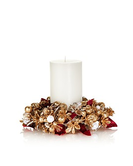 "Salzburg Creations - 4"" Velvet Botanical Candle Ring"