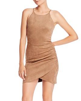 AQUA - Faux Suede Body-Con Dress - 100% Exclusive