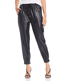 BLANKNYC - Cropped Faux-Leather Jogger Pants