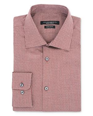 John Varvatos Star Usa Melange Micro Check Regular Fit Dress Shirt