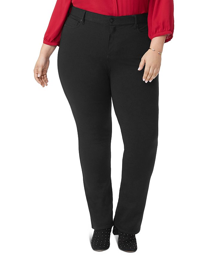 NYDJ Plus - Marilyn Ponte Knit Straight-Leg Pants