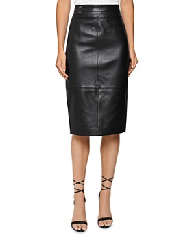 REISS - Kai Leather Pencil Skirt