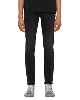 ALLSAINTS - Rex Distressed Slim Fit Jeans in Washed Black