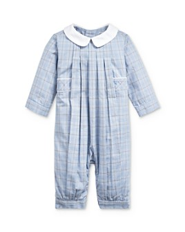 Ralph Lauren - Boys' Plaid Pleated Coverall - Baby