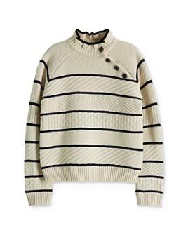 Scotch R'Belle - Girls' Striped Mixed-Knit Sweater - Little Kid, Big Kid