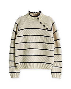 Scotch R'Belle Girls' Striped Mixed-Knit Sweater - Little Kid, Big Kid