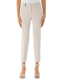 Peserico - Ankle-Length Stretch Chino Pants